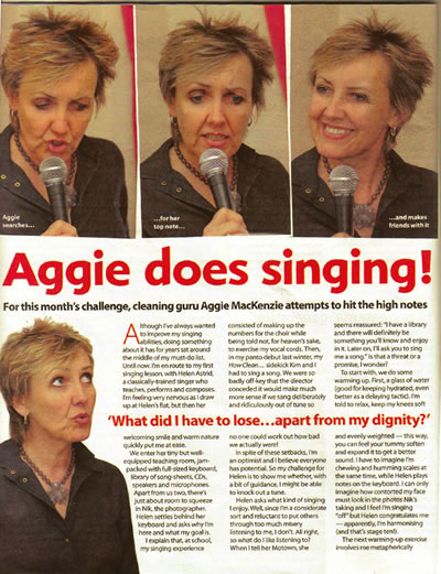 Woman's Weekly - Aggie does singing