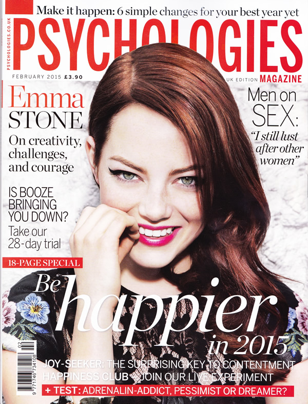 Psychologies Magazine Cover Feb 2015