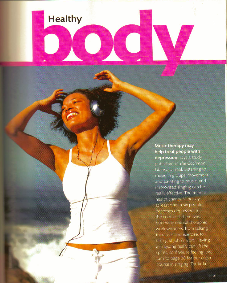 Healthy magazine article 1 scanned