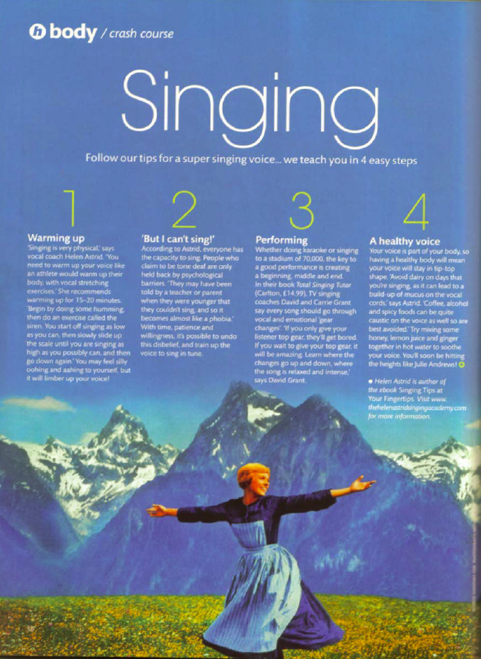 Healthy magazine article part 2 scanned